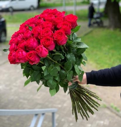 """Avietinių rožių puokštė """"Vytė"""" (29vnt)"""