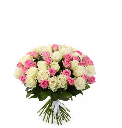 Balta- Rožinė MIX (49 vnt)