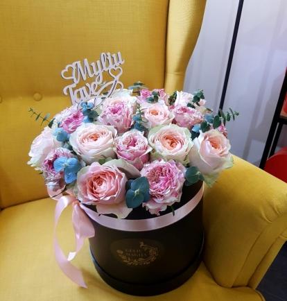 """Bijūninių rožių dėžutė """"Hazel"""""""