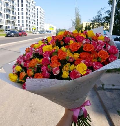 """Daugiažiedžių rožių  puokštė """"Miranda"""""""