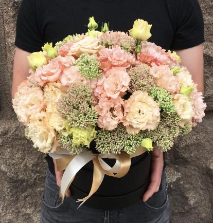 Eustomų dėžutė švelniai rožinė