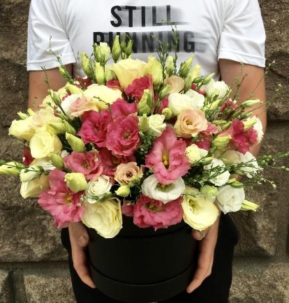 Gėlių Dėžutė (Rožinės eustomos)