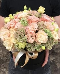 Gėlių Dėžutė (Ružavos eustomos)  35€/45€/55€