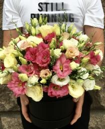 Gėlių Dėžutė (Rožinės eustomos)  45€/59€