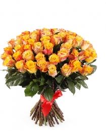 Oranžinės rožės  (51vnt)  75€/99€