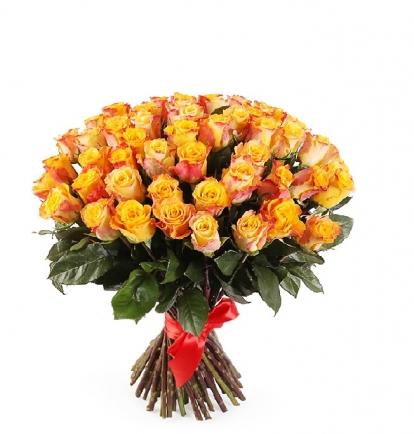 Oranžinės rožės  (49vnt)  75€/90€/115€