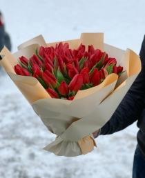 """Puokštė tulpių 51vnt          """"Love"""""""