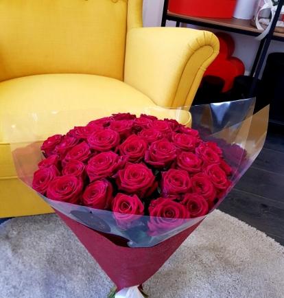 """Puokštė rožių """"Tėja"""" (39vnt)"""