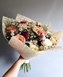 Puokštė sezoninių gėlių