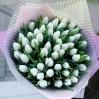 """Puokštė tulpių 51vnt """"Ivory"""" 0"""