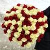 "Rožių puokštė ""Rosso bianco""  (101vnt) 0"