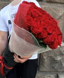 "Raudonos rožės (49vnt) ""Secilija"""