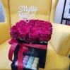 """Rožių dėžutė su macaroons sausainiukais """"Katrina"""" 4"""
