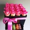 """Rožių dėžutė su macaroons sausainiukais """"Eva"""" 0"""