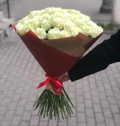 """Rožių puokštė - """"Aurora""""  (49vnt)"""