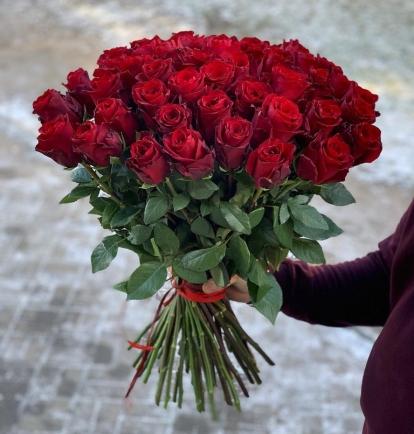 """Rožių puokštė """"Amore""""  39vnt"""