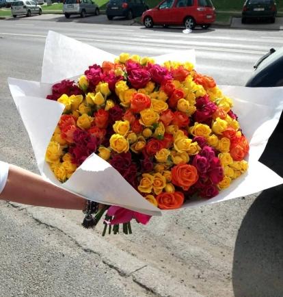 """Rožių puokštė """"Anchela"""" 39vnt"""