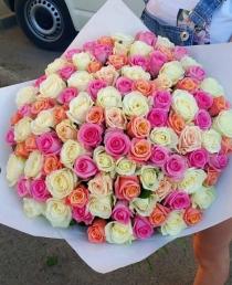 """Rožių puokštė """"Aroma"""" 101vnt"""