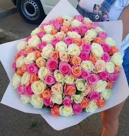 """Rožių puokštė """"Aroma"""" (101vnt)"""