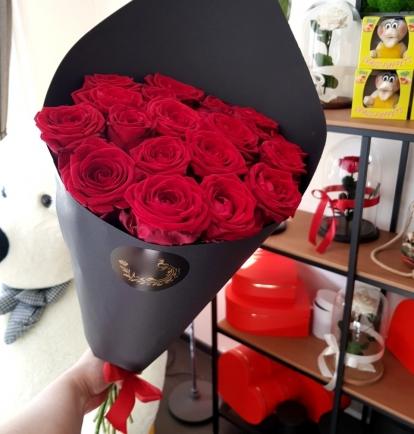 """Rožių puokštė """"Elein"""" 19vnt/29€"""