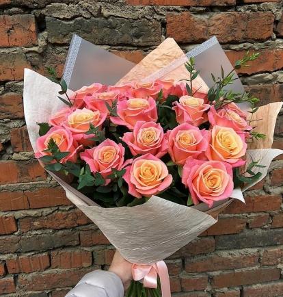 """Rožių puokštė """"Fiby"""" 19vnt"""