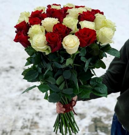 """Rožių puokštė """"Freedom""""  29vnt"""