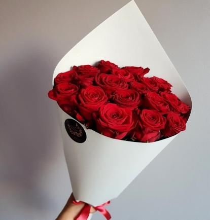 """Rožių puokštė """"Giuliana"""" 19vnt/29€"""