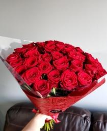 "Rožių puokštė ""Havana"" 39vnt 50cm"