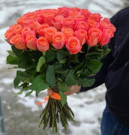 """Rožių puokštė  """"Luknė"""" (51vnt)"""