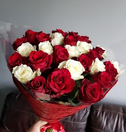 """Rožių puokštė """"Metėja"""" 29vnt"""