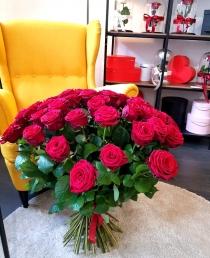 """Rožių puokštė  """"Midina"""" 49vnt"""