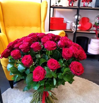 """Rožių puokštė  """"Midina"""" 69vnt"""