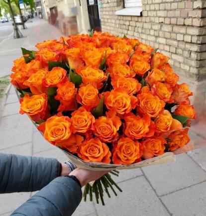 """Rožių puokštė """"Noelė"""" 49vnt"""