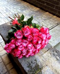 """Rožių puokštė """"Rowena"""" 29vnt/45€"""
