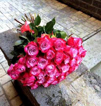 """Rožių puokštė """"Rowena"""" (29vnt)"""