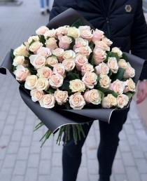 """Rožių puokštė """"Sarona"""" 59vnt"""