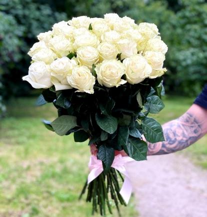 """Rožių puokštė """"Venera"""" 29vnt rožių"""