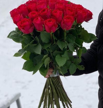 """Rožinės rožės - """"Arielė""""  (51vnt)"""