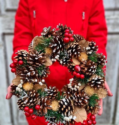 """šv.Kalėdų vainikas """"Dorata"""""""